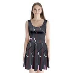 Plug in Split Back Mini Dress