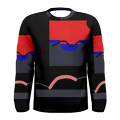 Geometrical abstraction Men s Long Sleeve Tee
