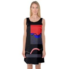 Geometrical abstraction Sleeveless Satin Nightdress
