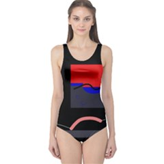 Geometrical abstraction One Piece Swimsuit