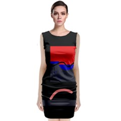 Geometrical Abstraction Classic Sleeveless Midi Dress