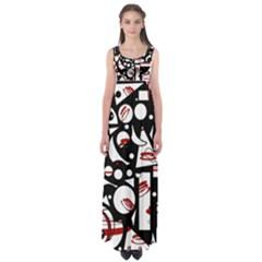 Happy life - red Empire Waist Maxi Dress