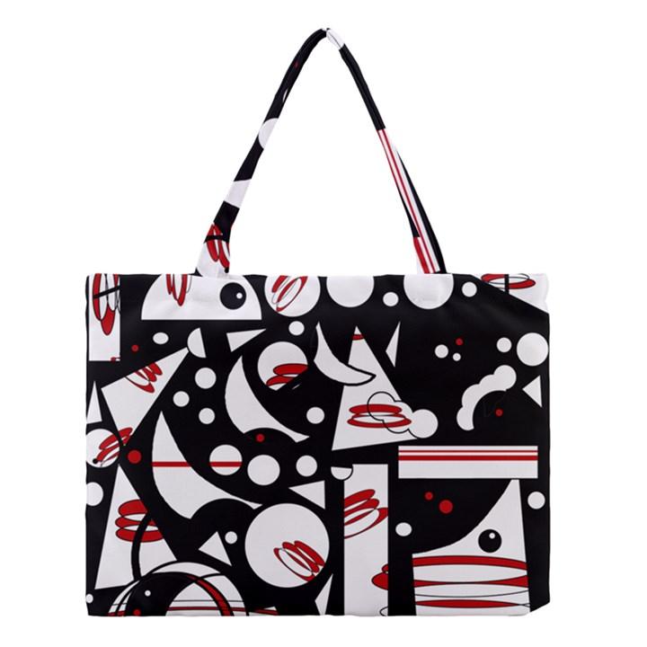 Happy life - red Medium Tote Bag