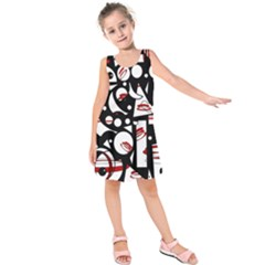 Happy life - red Kids  Sleeveless Dress