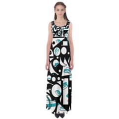 Happy life - blue Empire Waist Maxi Dress