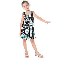 Happy Life   Blue Kids  Sleeveless Dress