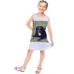 Black Lab Laying with toy Kids  Tunic Dress