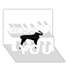 Spinone Italiano Silo Black Miss You 3D Greeting Card (7x5)