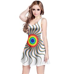 Abstract Art Colorful Prismatic Reversible Sleeveless Dress