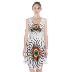 Abstract Art Colorful Prismatic Racerback Midi Dress