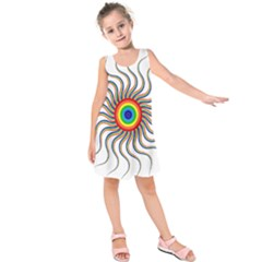 Abstract Art Colorful Prismatic Kids  Sleeveless Dress