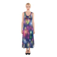 Abstract Background Graphic Design Sleeveless Maxi Dress