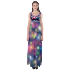 Abstract Background Graphic Design Empire Waist Maxi Dress