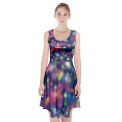 Abstract Background Graphic Design Racerback Midi Dress