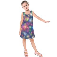 Abstract Background Graphic Design Kids  Sleeveless Dress