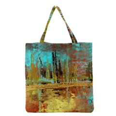 Autumn Landscape Impressionistic Design Grocery Tote Bag