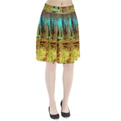 Autumn Landscape Impressionistic Design Pleated Skirt