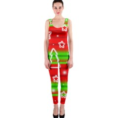 Christmas pattern OnePiece Catsuit
