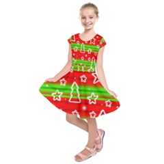 Christmas pattern Kids  Short Sleeve Dress