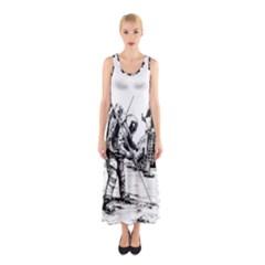 Apollo Moon Landing Nasa Usa Sleeveless Maxi Dress