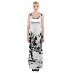 Apollo Moon Landing Nasa Usa Maxi Thigh Split Dress