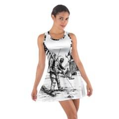 Apollo Moon Landing Nasa Usa Cotton Racerback Dress