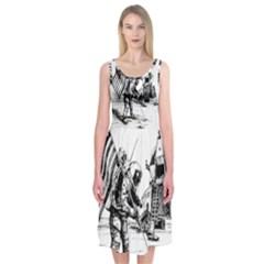 Apollo Moon Landing Nasa Usa Midi Sleeveless Dress