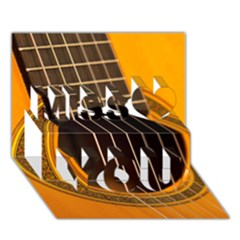 Vintage Guitar Acustic Miss You 3d Greeting Card (7x5)