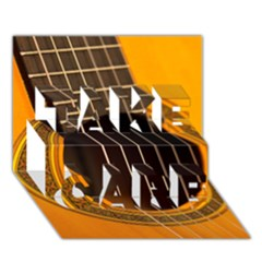 Vintage Guitar Acustic Take Care 3d Greeting Card (7x5)