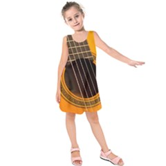 Vintage Guitar Acustic Kids  Sleeveless Dress