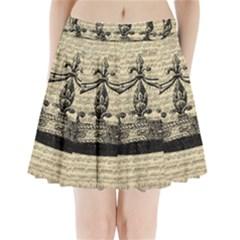Vintage Music Sheet Crown Song Pleated Mini Skirt