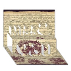 Vintage Music Sheet Song Musical Miss You 3d Greeting Card (7x5)