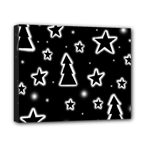 Black And White Xmas Canvas 10  X 8