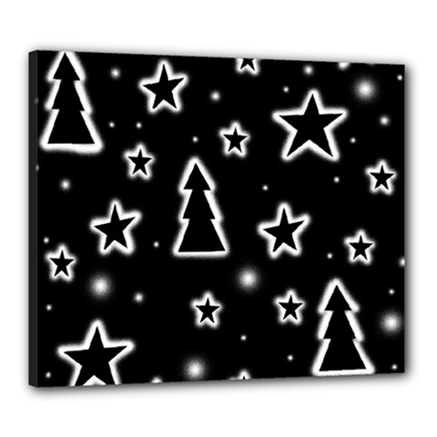 Black and white Xmas Canvas 24  x 20