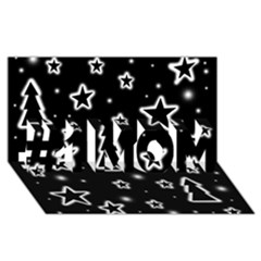 Black and white Xmas #1 MOM 3D Greeting Cards (8x4)
