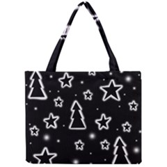 Black and white Xmas Mini Tote Bag
