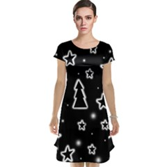 Black and white Xmas Cap Sleeve Nightdress