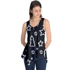 Black and white Xmas Sleeveless Tunic