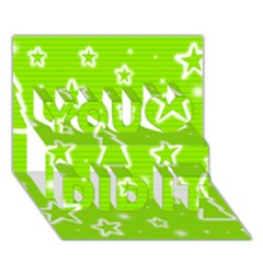 Green Christmas You Did It 3D Greeting Card (7x5)