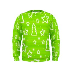 Green Christmas Kids  Sweatshirt