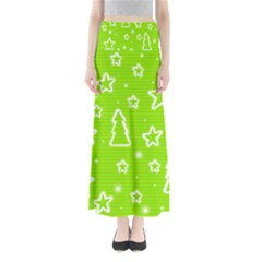Green Christmas Maxi Skirts