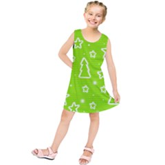 Green Christmas Kids  Tunic Dress