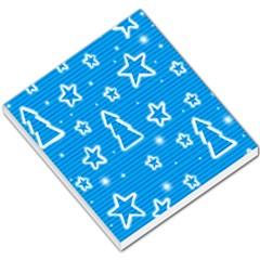 Blue decorative Xmas design Small Memo Pads
