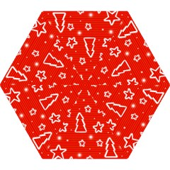 Red Xmas Mini Folding Umbrellas