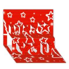 Red Xmas Miss You 3D Greeting Card (7x5)