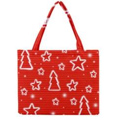Red Xmas Mini Tote Bag
