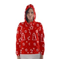 Red Xmas Hooded Wind Breaker (Women)
