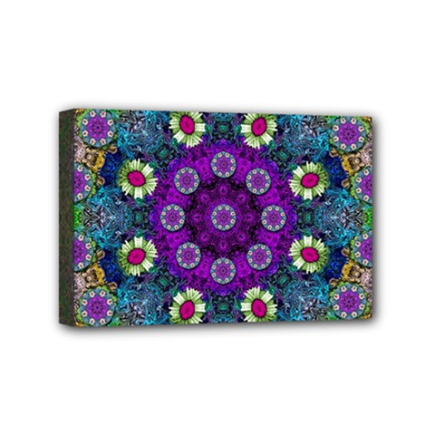 Colors And Flowers In A Mandala Mini Canvas 6  X 4