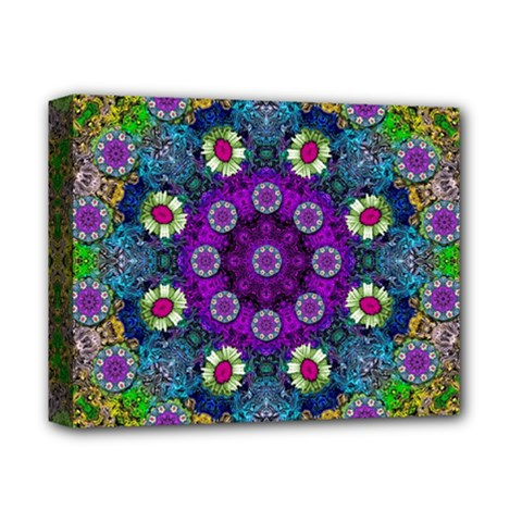 Colors And Flowers In A Mandala Deluxe Canvas 14  X 11