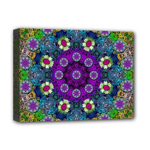 Colors And Flowers In A Mandala Deluxe Canvas 16  X 12